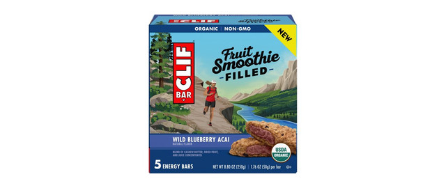 CLIF® Wild Blueberry Acai Fruit Smoothie Filled Energy Bars coupon