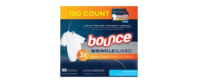 Bounce WrinkleGuard Mega Dryer Sheets coupon